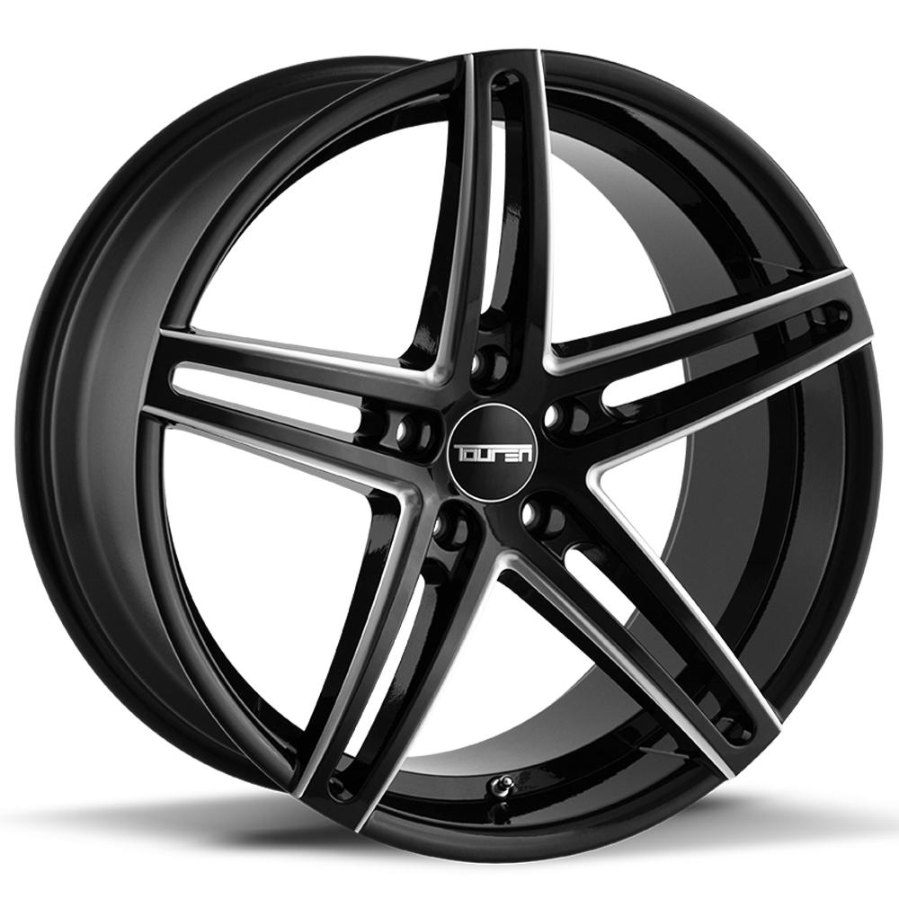 "Touren TR73 20x10 5x112 +40mm Black/Milled Wheel Rim 20"" Inch"
