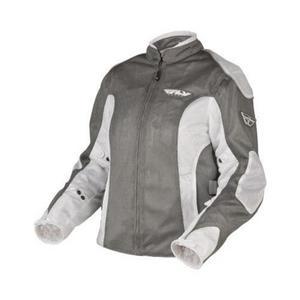 Fly Racing CoolPro II Ladies Mesh Jacket White/Gray (White, Medium)