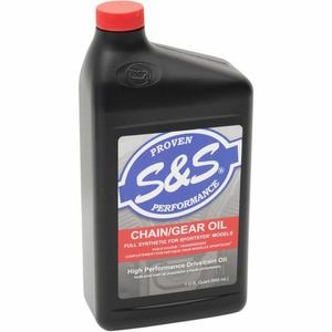 S&S Cycle 153763 High Performance Full Synthetic Sportster Chain/Gear Oil - 1 Qt.