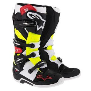 Alpinestars Tech 7 MX Boots Black/Red/Yellow (Black, 6)
