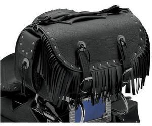 All American Rider 3002RCF Extra Large Traveler Bike Rack Bag - Rivet with Fringe