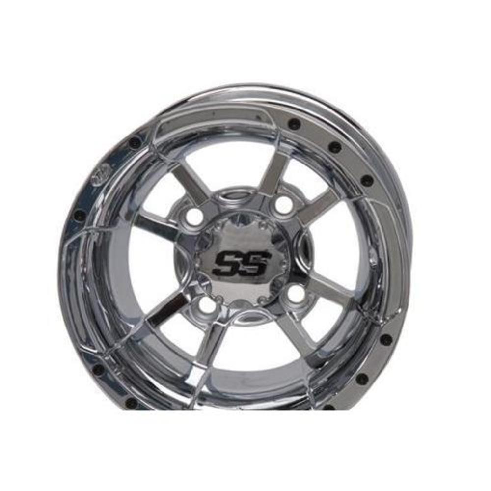 ITP 1228246402B SS112 Golf Cart Wheel - 12x7 - 2+5 Offset - 4/4 - Chrome