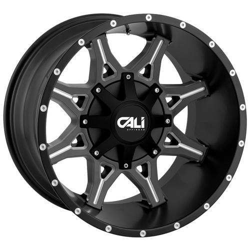 "4-Cali 9107 Obnoxious 20x10 5x5""/5x5.5"" -19mm Black/Milled Wheels Rims 20"" Inch"