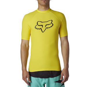 Fox Legacy SS Rashguard Blazing Yellow (Yellow, Medium)
