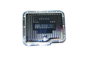 SPECIALTY CHROME Chrome Steel Stock Depth Finned Trans Pan Powerglide P/N 7602