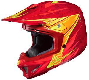 HJC CL-X7 Pop N Lock Helmet Red (MC-1) (Red, Small)