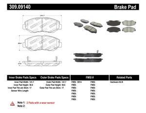 StopTech 309.09140 StopTech Sport Brake Pads