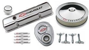 Proform 141-900 GM Engine Dress-Up Kit; Chevrolet And Bow Tie Emblem