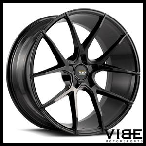 "20"" SAVINI BM14 GLOSS BLACK CONCAVE WHEELS RIMS FITS INFINITI Q60 COUPE"