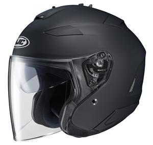 HJC IS-33 II Solid Helmet (Black, Large)