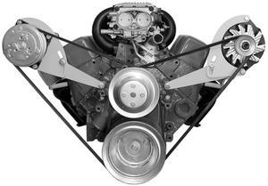 ALAN GROVE COMPONENTS SBC Head Mount Low Profile Alternator Bracket Kit P/N 223L