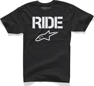 Alpinestars Ride Solid T-Shirt Black/White (Black, X-Large)