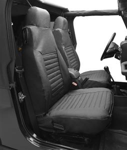 Bestop Seat Cover Set, Front High-back Seat - Jeep 80-83 CJ5, 76-86 CJ7, 87-91 W