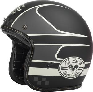 Fly Racing .38 Wrench Helmet Black/Vintage White (Black, XX-Large)