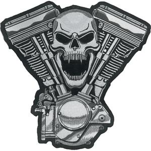 Lethal Threat LT30069 Skull Motor Embroidered Patch
