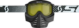 Scott USA 83X Safari Facemask Black / Yellow Lens (Black, OSFM)
