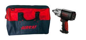"AIRCAT 1/2"" Dr Twin Clutch Impact Wrench W/ Tool Bag (ACA-1250-KBAG)"