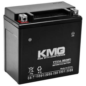 KMG YTX14-BS Sealed Maintenace Free Battery High Performance 12V SMF OEM Replacement Maintenance Free Powersport Motorcycle ATV Scooter