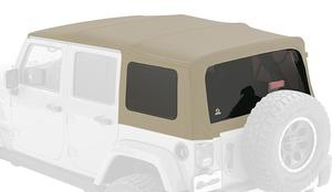 Bestop 54823-74 Supertop NX Pebble Beige Twill  Soft Top 07-18 Wrangler 4-DR
