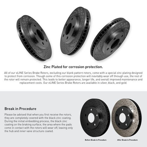 For 2013-2017 Chevrolet Trax Rear Black Drilled Brake Rotors+Ceramic Brake Pads