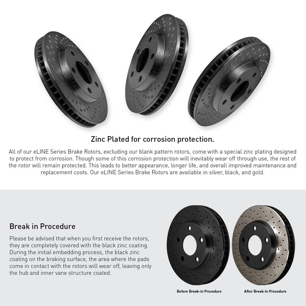 [REAR] Black Edition Cross-Drilled Brake Rotors & Ceramic Brake Pads RBX.6604202