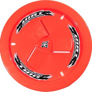 Dirt Defender Racing Fluorescent Red Plastic 15 in Wheels Mud Cover P/N 10281