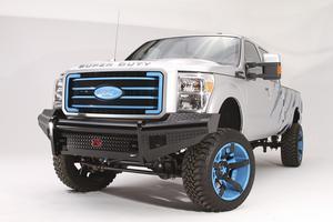 Fab Fours FS99-S1661-1 Black Steel Front Ranch Bumper