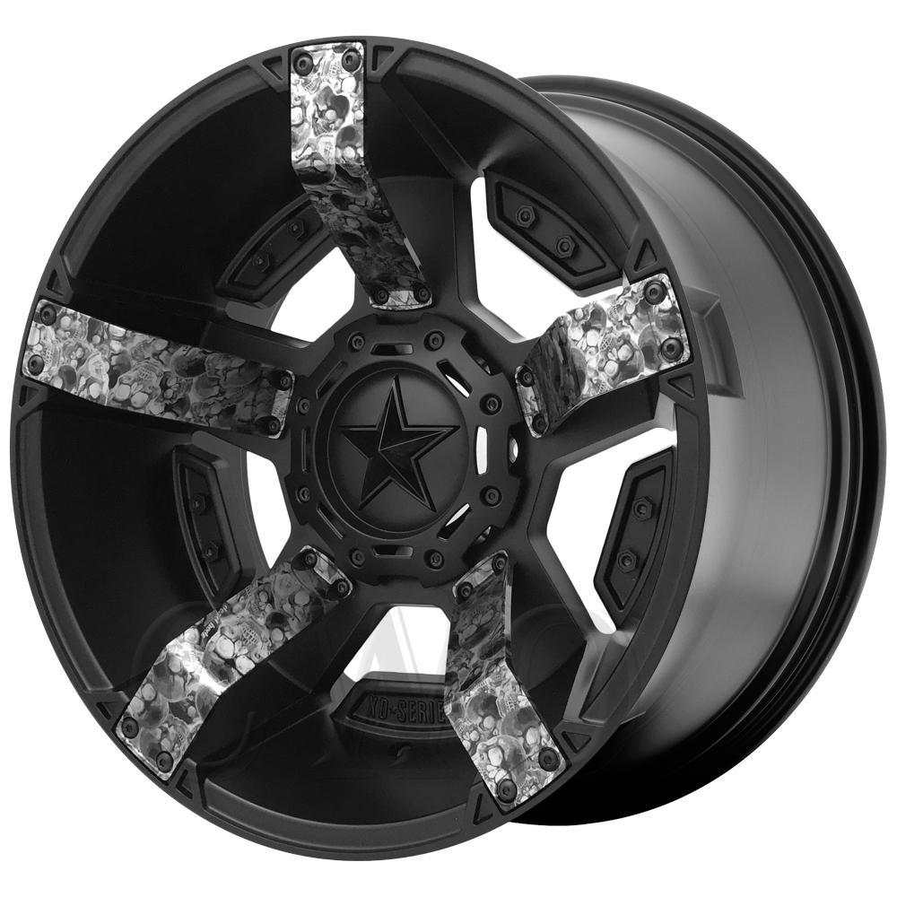 "XD Series XD811 Rockstar 2 17x8 8x180 +10mm Black/Skull Wheel Rim 17"" Inch"
