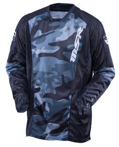 MSR Ascent Jersey Gray/Camo/Black (Gray, Large)