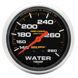 AutoMeter 5431 Pro-Comp Liquid-Filled Mechanical Water Temperature Gauge
