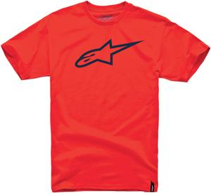 Alpinestars Adult Clip Label Short Sleeve T-Shirt Red S