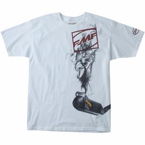 FMF Racing Boxcage T-Shirt (White, Medium)