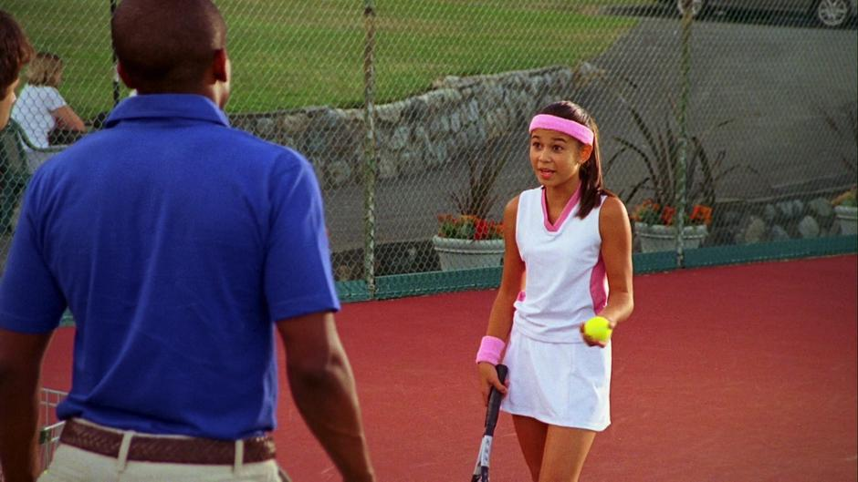 The young tennis player tells Shawn and Gus that she needs to keep practicing.