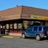 Photograph of Robin's Donut Shop.