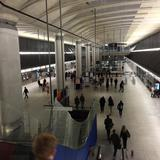 Photograph of Canary Wharf Underground Station.