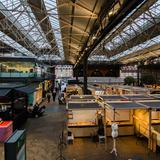 Photograph of Spitalfields Market.