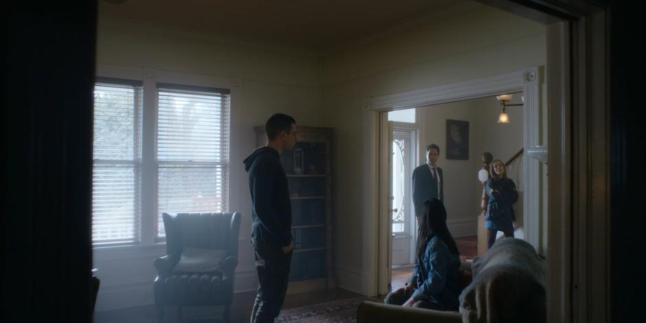 Grace tells Grant and Marcy to leave so she can continue her conversation with Trevor.