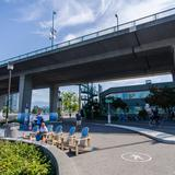 Photograph of Seaside Bicycle Route (under Cambie Street Bridge).