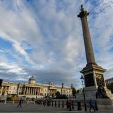 Photograph of Trafalgar Square.
