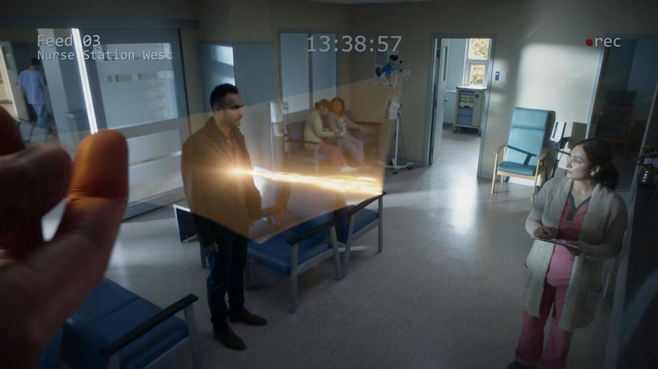 Julia's glass shows a tether connecting Penny and his mother in the security footage.