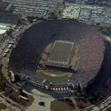 Photograph of Los Angeles Memorial Coliseum.