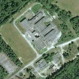 Satellite image of the facility before it was torn down.