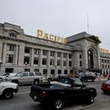 Photograph of Pacific Central Station.
