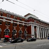Photograph of Waterfront Station.