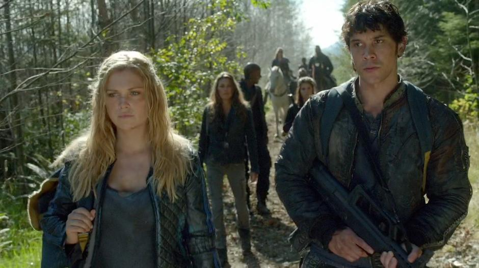 Bellamy talks to Clarke about what she had to do.