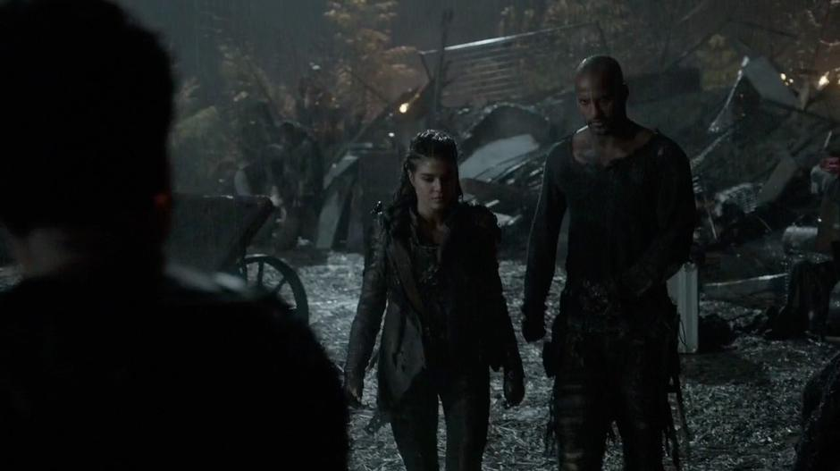 Octavia and Lincoln walk up to Indra.