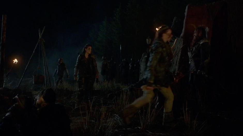 Octavia walks away from Clarke after learning the truth about the attack.