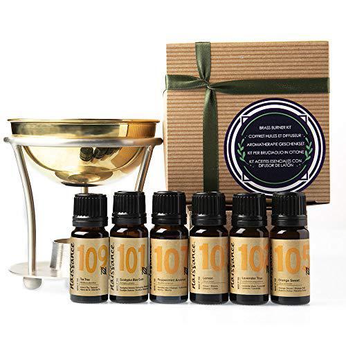 Naissance Confezione regalo - Bruciatore di Oli per Aromaterapia con 6 oli essenziali