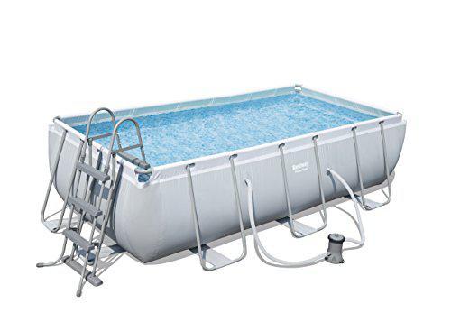Bestway 56441 Rectangular Power Steel Frame Pool
