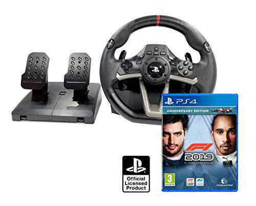 Volante e pedali con licenza Playstation 4